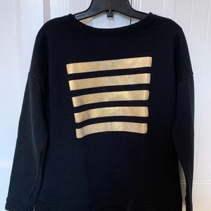 Black and gold crew neck